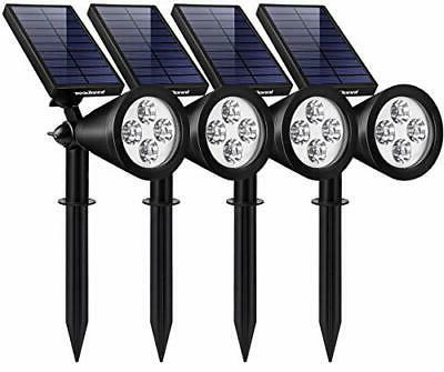 solar lights outdoor upgraded waterproof powered white