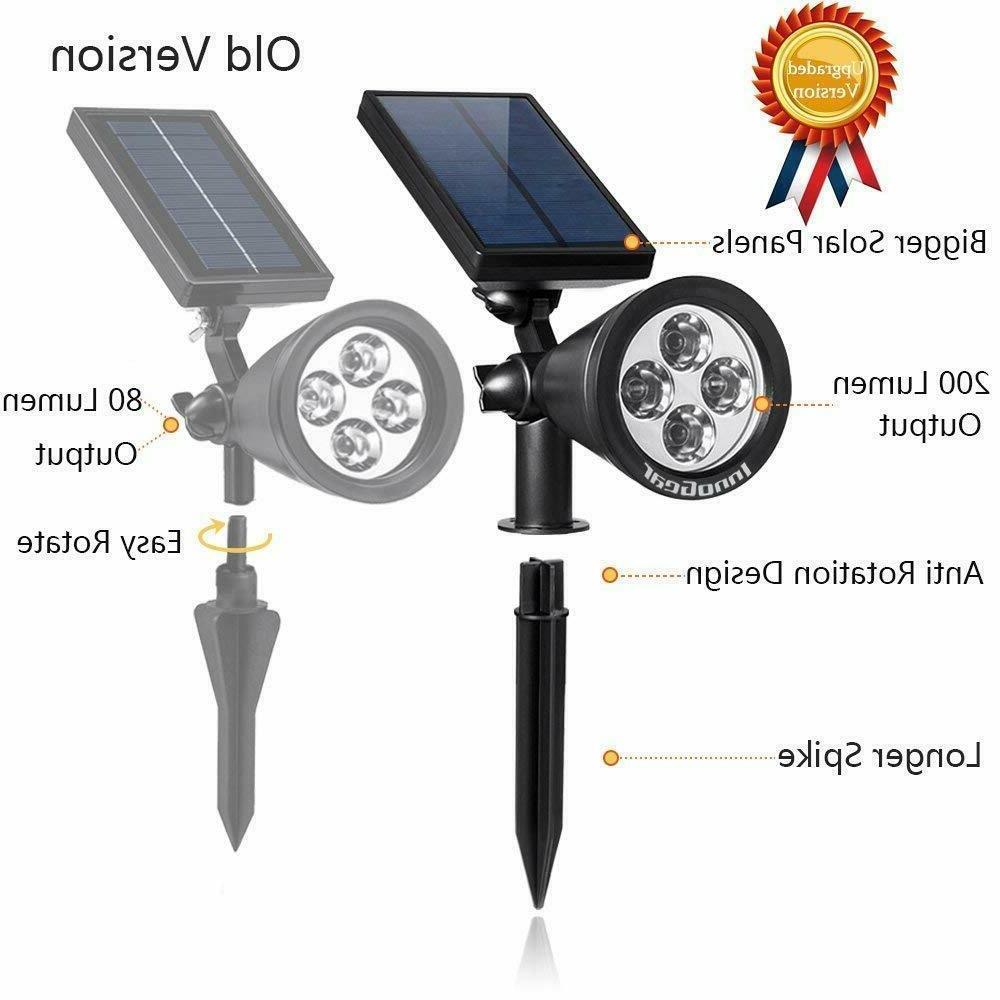 InnoGear Upgraded Solar 2-in-1 Outdoor Landscape Lighting Spot