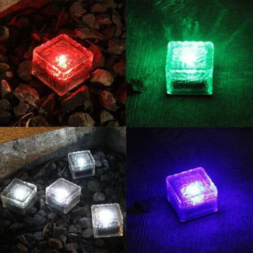 Glass Brick Solar Underground Light IP68 Outdoor Pathway Flo