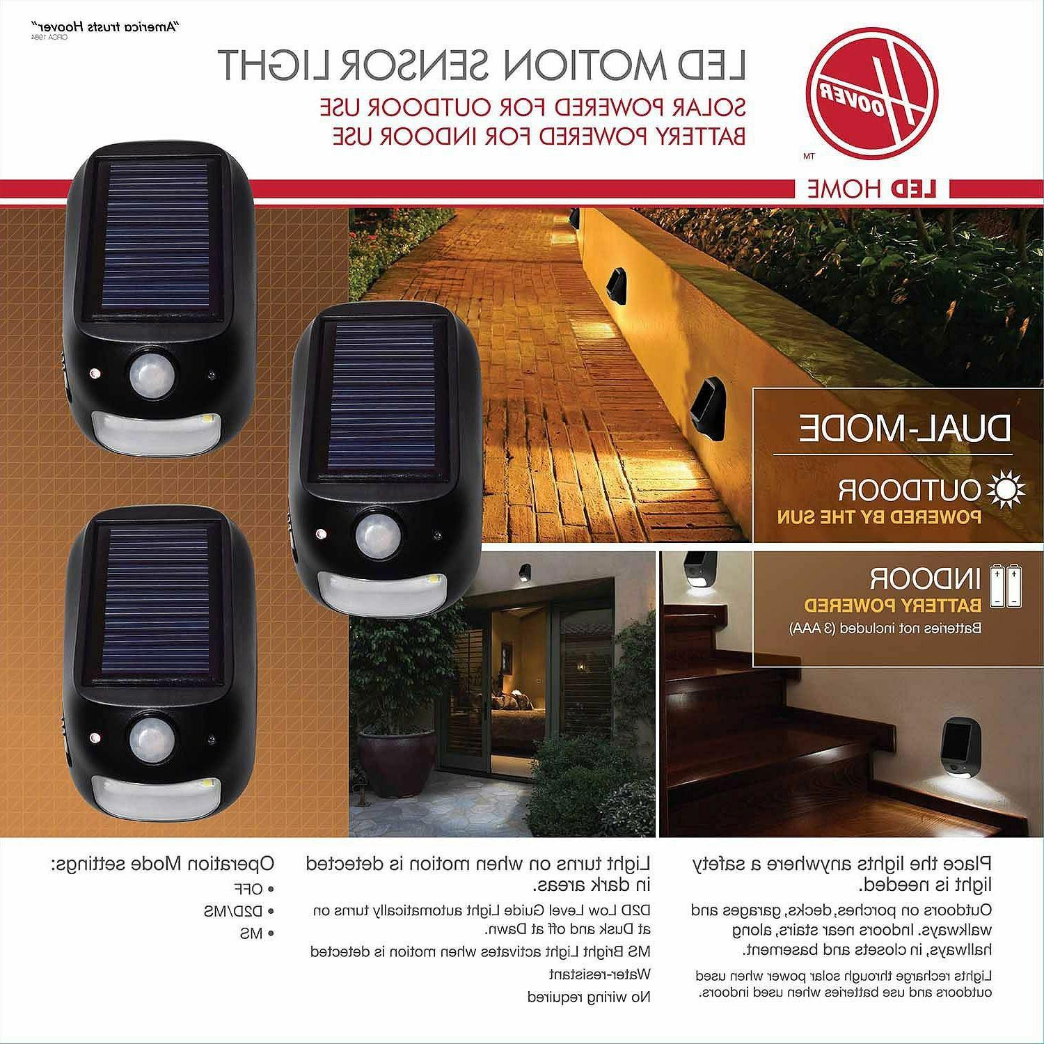 led dual mode security light with solar