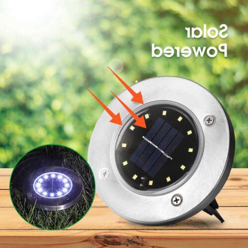 LED Disk Lights Ground Garden Deck Path