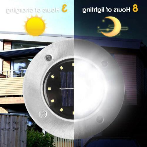 LED Solar Disk Lights Ground Deck
