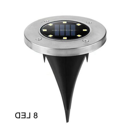 LED Solar Disk Ground Garden Deck Path Outdoor