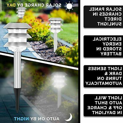 Morvat LED Solar Pathway Lights, Path Lights