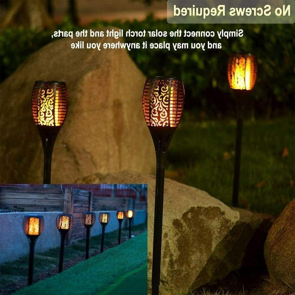 LED Solar Lights Flickering Flame Light Torch Lights