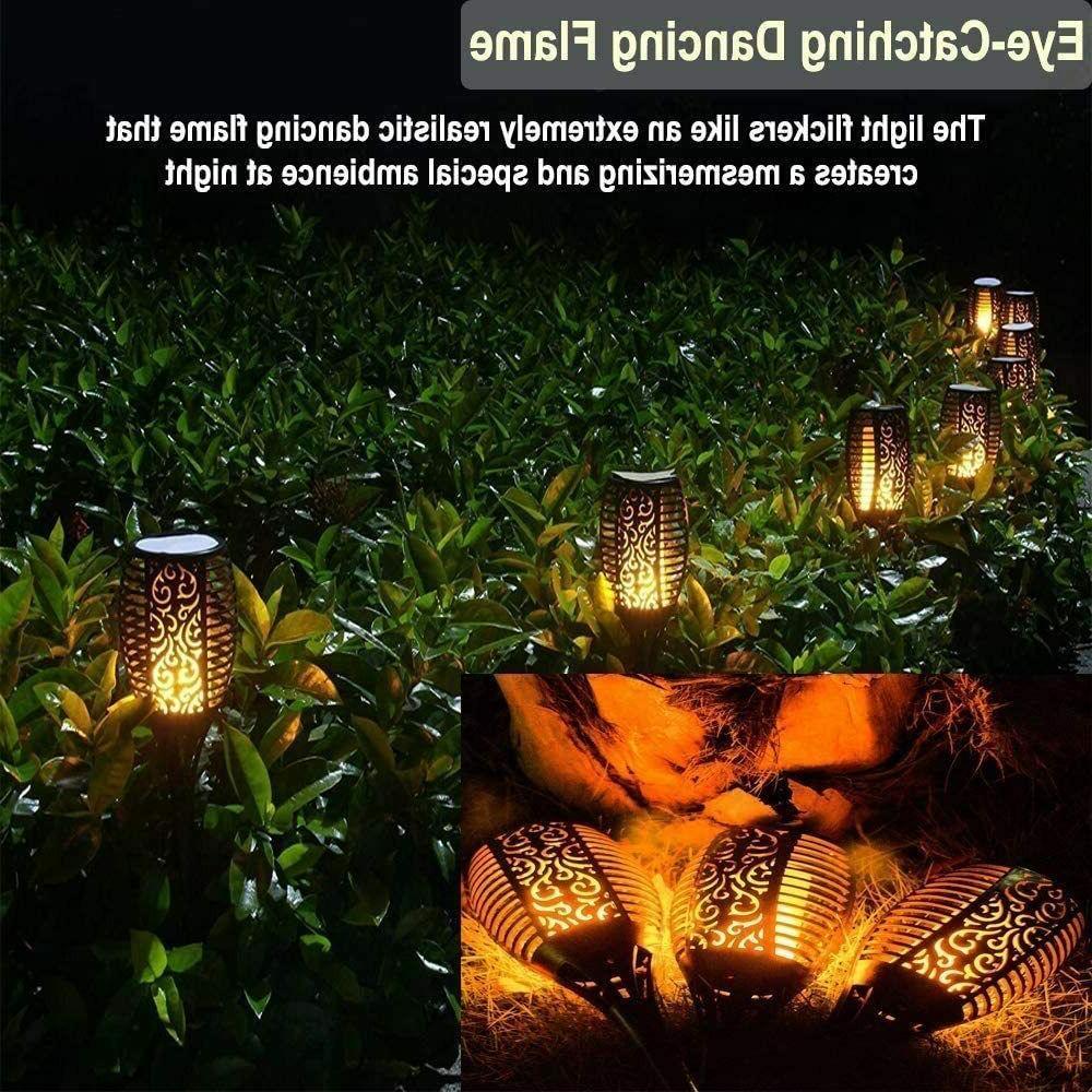 LED Lights Torch Flickering Light Solar Torch