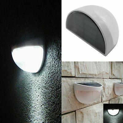 LED Solar Power Garden Lights Outdoor Fence Lamp Light White
