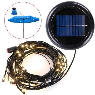 LED Powered Patio Umbrella String Fit 8ft 9ft Umbrella