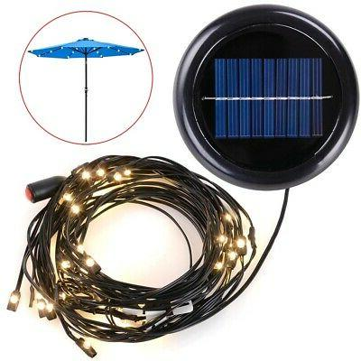 led solar powered patio umbrella string light