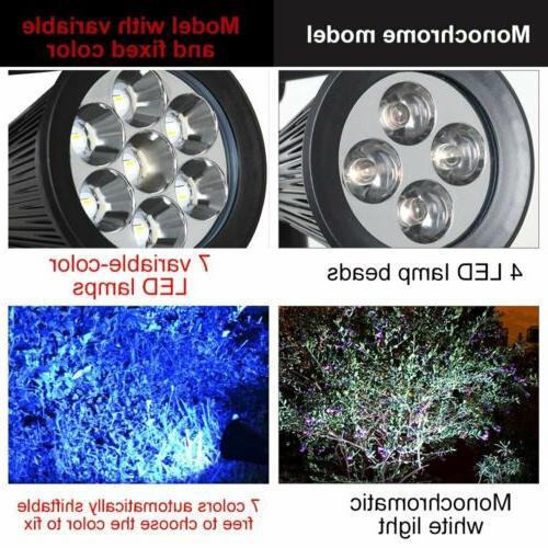 LED Spotlights 7 LED changing Garden Solar Lights,Security Lighting