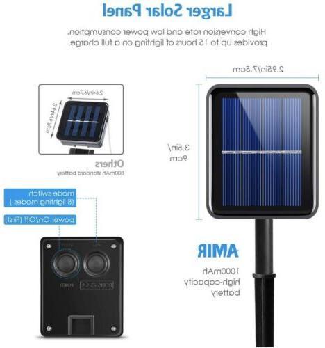 Amir Strip Lights, 90 Solar Lights, 8 Light Modes
