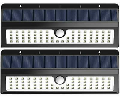 2 Pack Solar Lights 62 LED Motion Sensor Activated Garden Ba