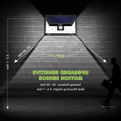 LITOM Solar Powered PIR Motion Outdoor Light Garden Lamp