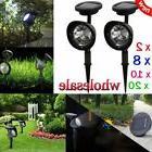 Lot 1~10X Solar Spot Light Outdoor Garden Lawn Landscape LED
