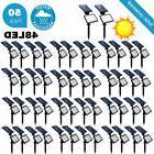 LOT 100 Outdoor 48-LED Solar powered wall light spotlight pa
