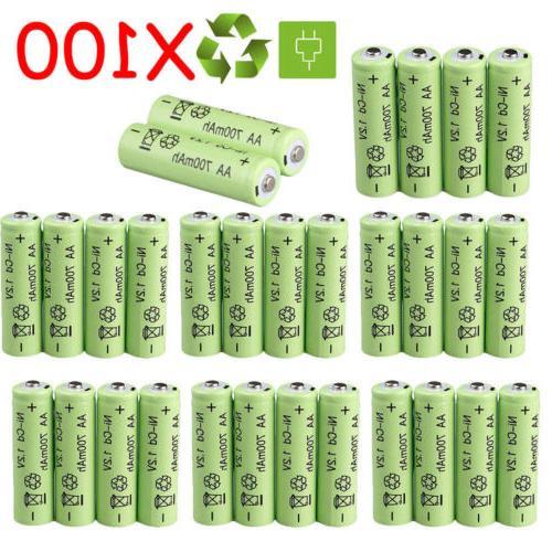 Lot 100X Rechargeable Batteries Garden Ni-Cd Light LED