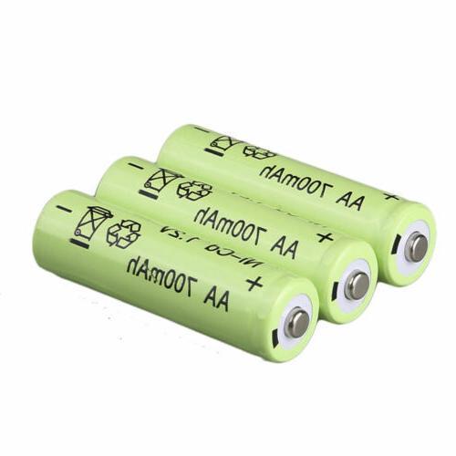 Lot 100X AA Batteries NiCd Garden Solar LED