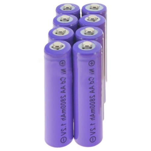 LOT AA 2800mAh Rechargeable Batteries Solar