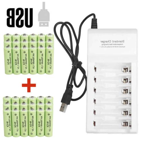 lot aa rechargeable batteries nicd 700mah 1