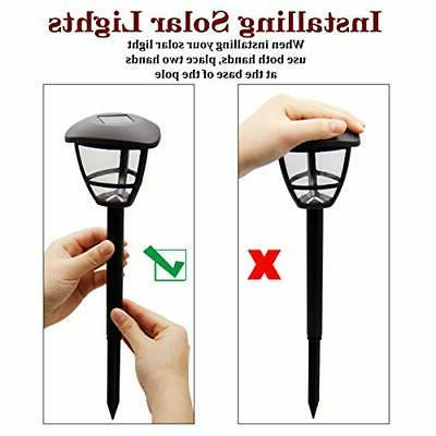 MAGGIFT Powered Landscape Lights Outdoor Pathway