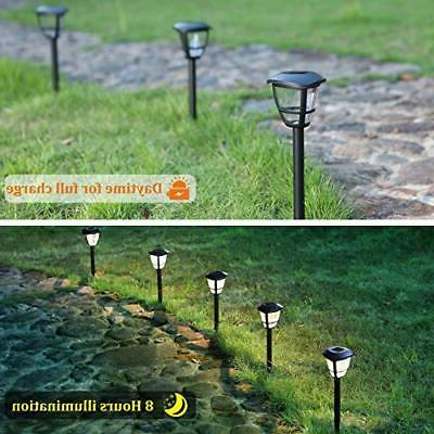MAGGIFT 12 Powered Landscape Pathway Lights,