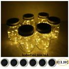 6 Pack Mason Jar Lights 20 LED Solar Warm White Fairy String