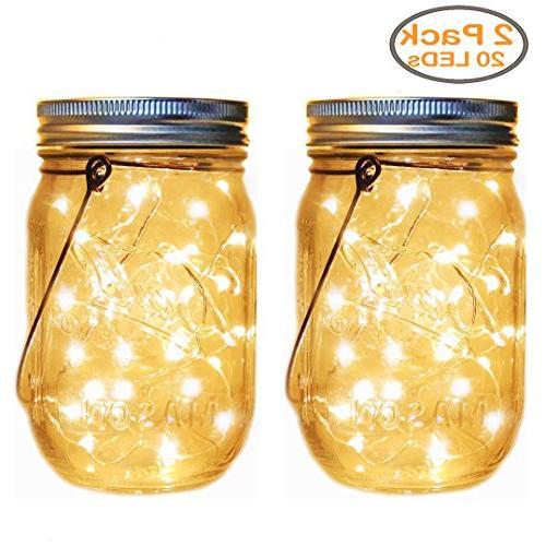 mason jar lights decor solar