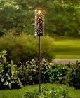 Metal Solar Powered Lantern Garden Stake Outdoor Yard Walkwa