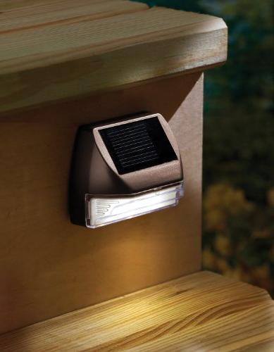 Moonrays Rectangle Solar Deck Light