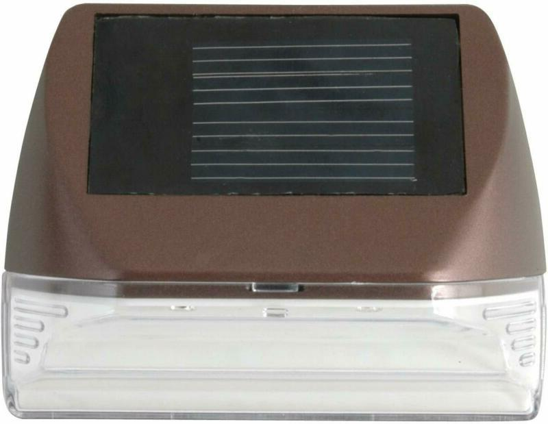 Moonrays Solar Deck Wall Mounted Warm White LED Shipping