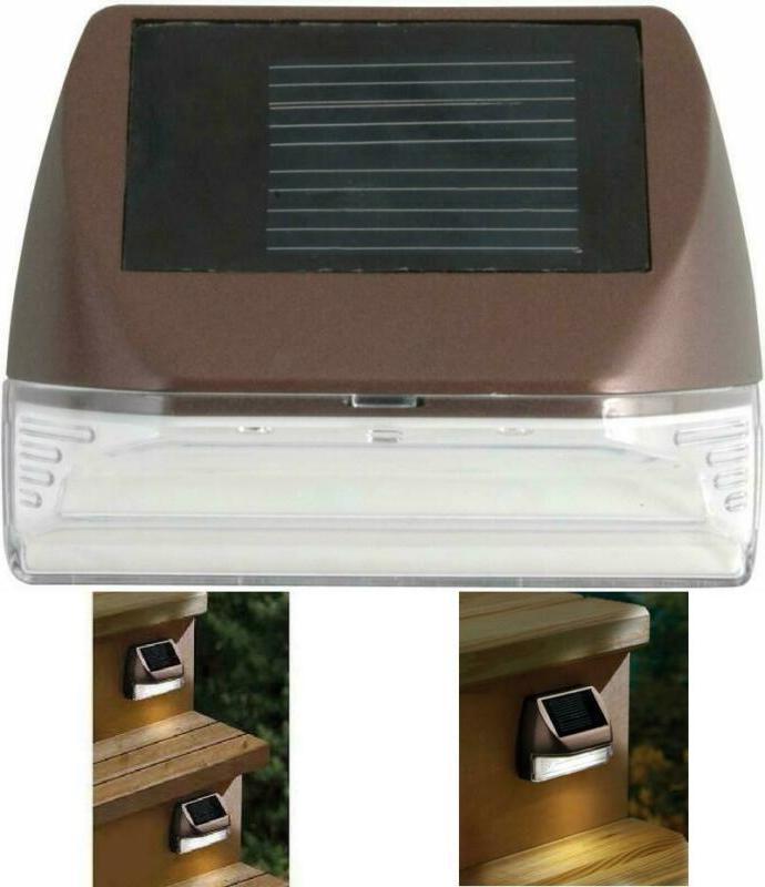mini solar deck wall mounted sconce warm