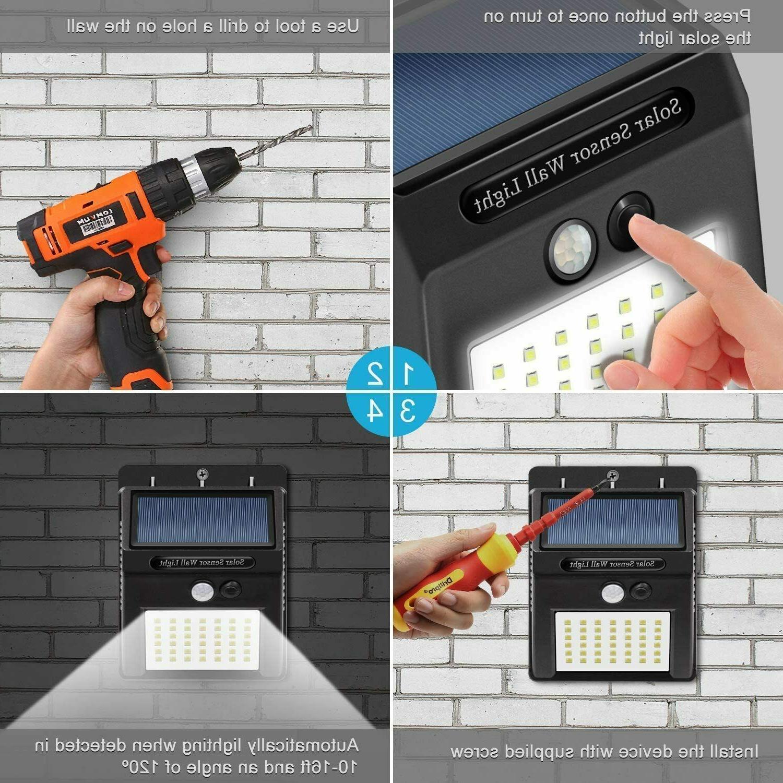 Motion Sensor Security Lights 10 LED Wireless Flood
