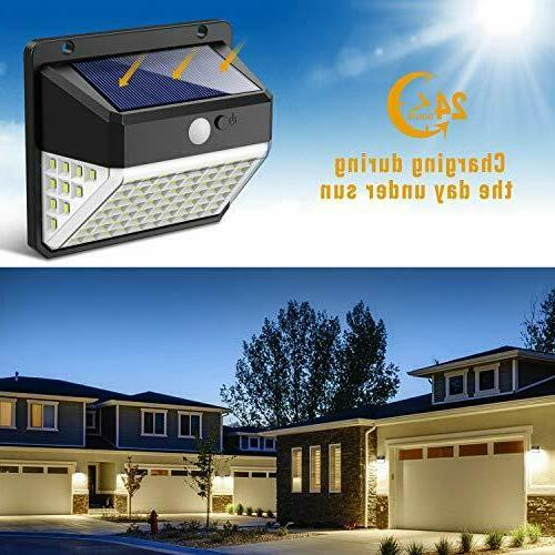 Motion Lights Solar Activated Deck Wall LED Lamp