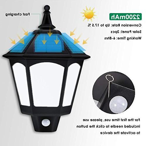 Motion Sensor Solar Lights Outdoor, Modes Outside Auto Solar Light Outdoor for Garden Porch Yard Deck Stairway Driveway