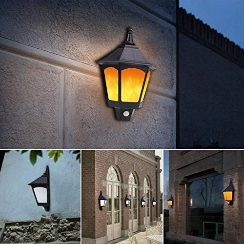 Motion Outdoor, Flickering Solar Outside Auto Solar Light Outdoor for Porch Yard Deck Stairway