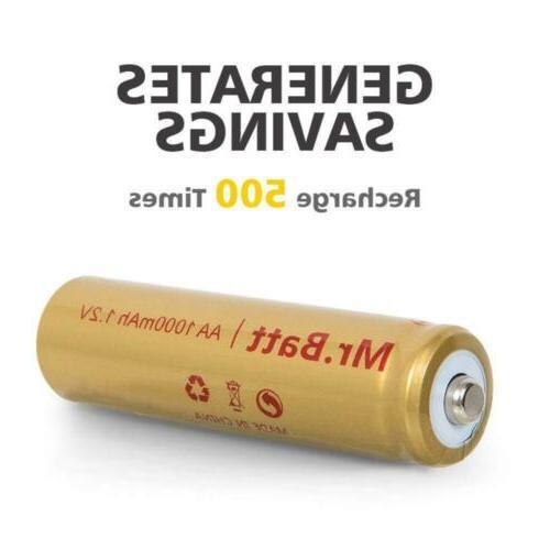 Mr.Batt NiCD AA Rechargeable Batteries Solar Lights 1.2V Pack