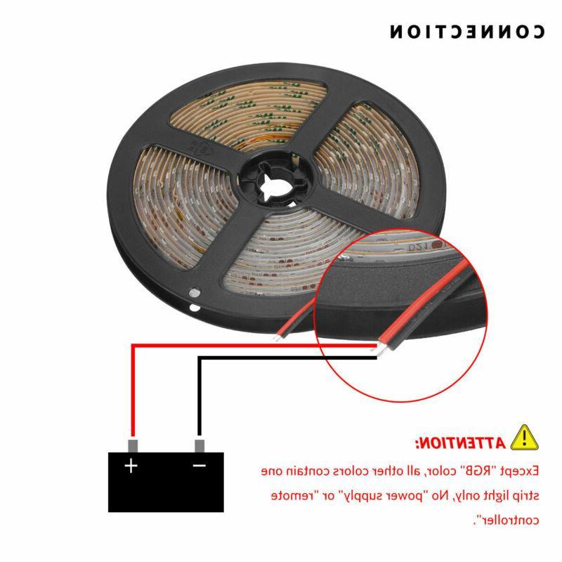 Multi 5M Waterproof 3528 SMD 300 LED Flexible Light Strip Decor 12V