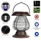 New LED Light Solar Powered Pest Bug Zapper Insect Mosquito