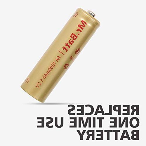 Mr.Batt Batteries 1.2V 1000mA, 16 Pack