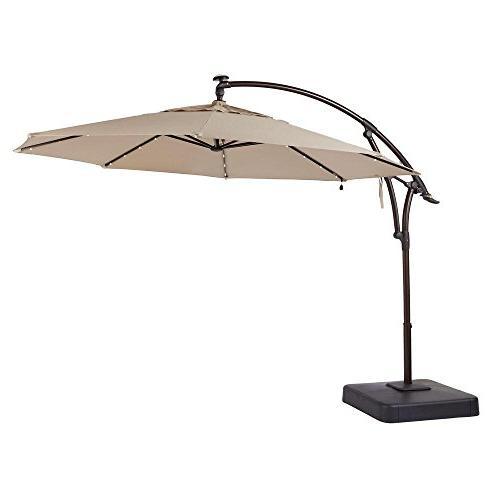 offset patio umbrella tan