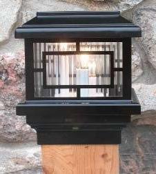 """Orion 12V Deck Light, 3-1/2""""  Post, 1.6W LED, Black"""