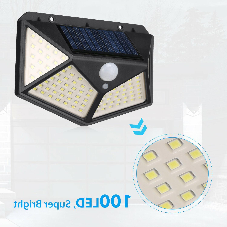 Outdoor 100 Wall Lights Security Motion Sensor Yard Lamp
