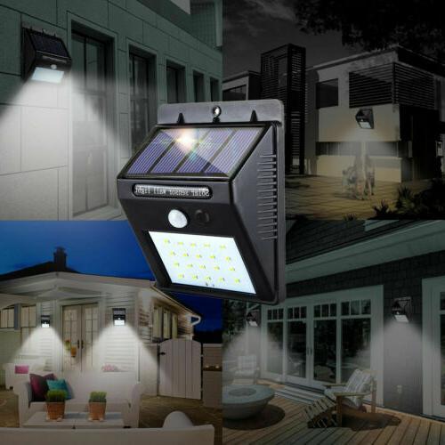Outdoor 20 LED Wall Lights Motion Sensor Garden Path Lamp