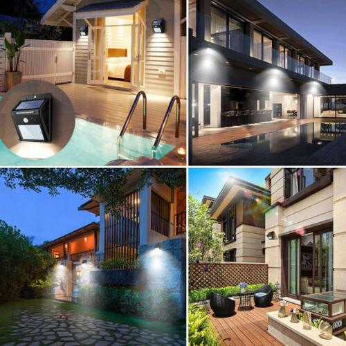 Outdoor LED Wall Motion Sensor Garden Path Lamp