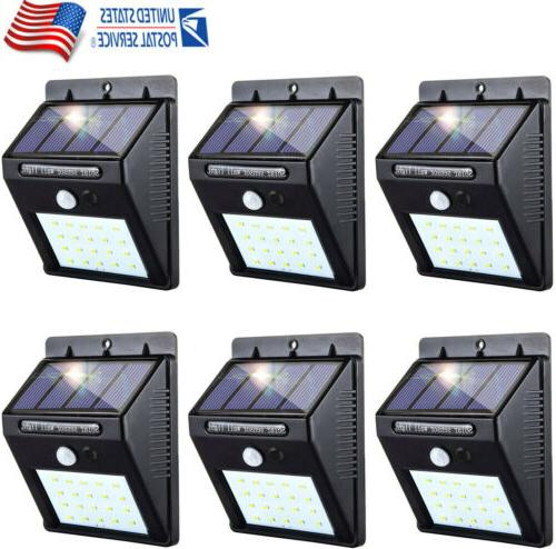 outdoor 12 led solar wall lights power