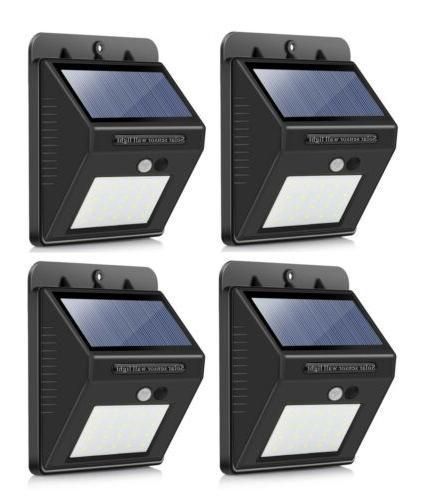 outdoor 20 led solar wall lights power