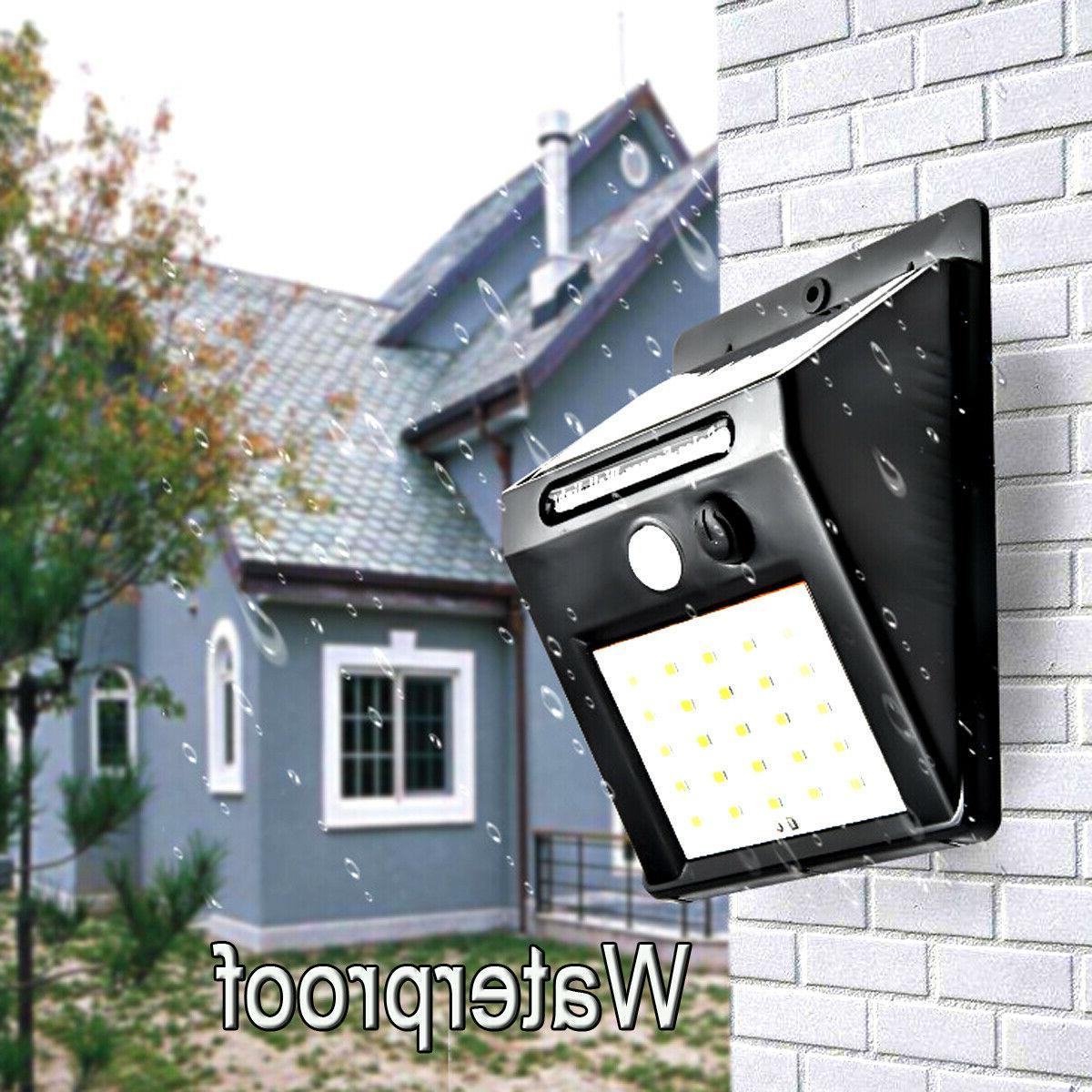 Outdoor 20 Wall Lights Power Motion Sensor Garden Path