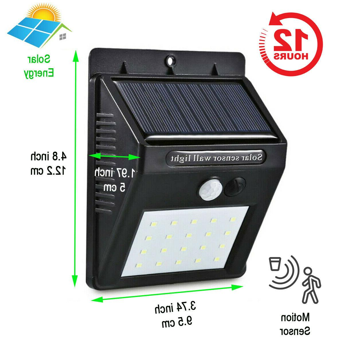 Outdoor 20 Solar Wall Lights PIR Motion Sensor Path