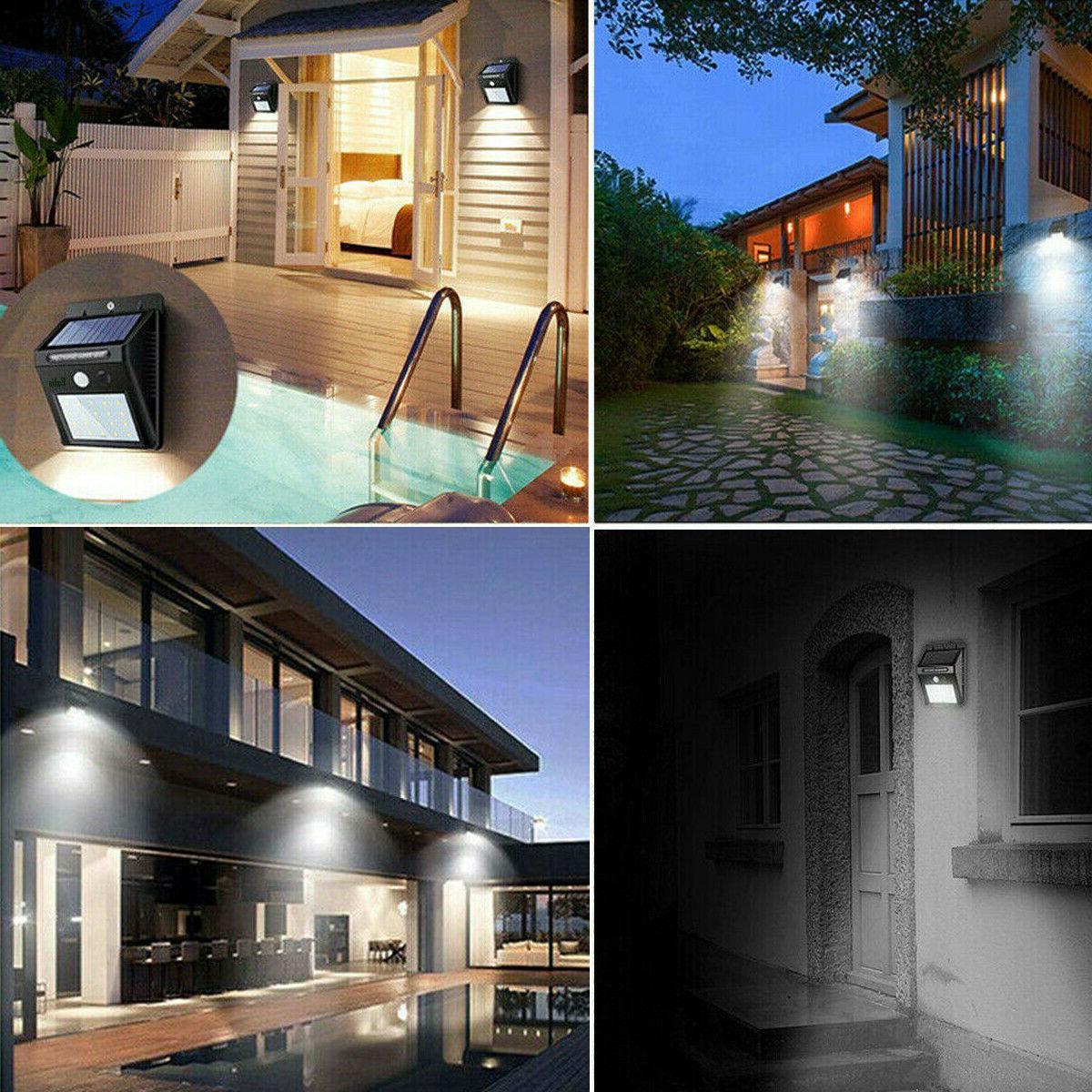 Outdoor Wall Lights PIR Motion Sensor Garden Yard Path Lamp