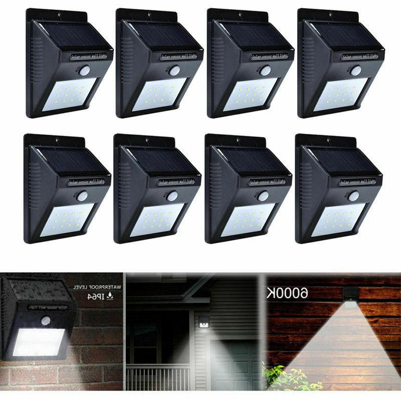 Outdoor 20 LED Solar Wall Lights Motion Sensor Path Lamp